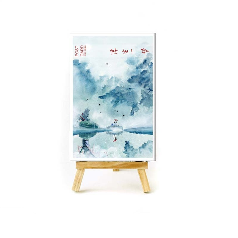Office & School Supplies 30 Sheets/set Chinese Ancient Town Landscape Postcard/greeting Card/wish Card/christmas And New Year Gifts Cards Beneficial To Essential Medulla Business Cards