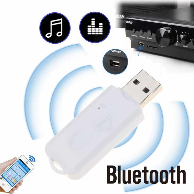 Kebidumei ミニポータブル USB Bluetooth ステレオ音楽カーオーディオワイヤレス Bluetooth レシーバーアダプタカーキット用スピーカー