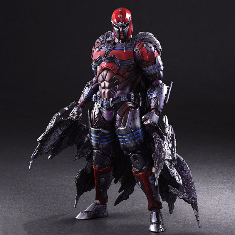 QICSYXJ Birthday Gift Supply X Men Action Collection 26cm PA KAI Magneto Toy Figure Marvel Anime Movable Model Decorations halloween toy gift timeless sparta action figure collection 27cm pa spartan model doll movable decorations
