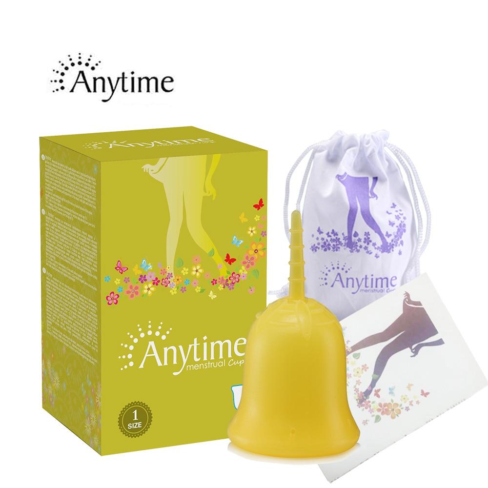 1 st. Feminin Hygien 100% Medicinsk Menstrual Cup För Kvinnor Silicone Period Cup Stor Storlek och S Storlek