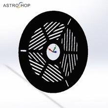 Máscara de enfoque Bahtinov, plástico, para telescopio, diámetro de 60 200mm