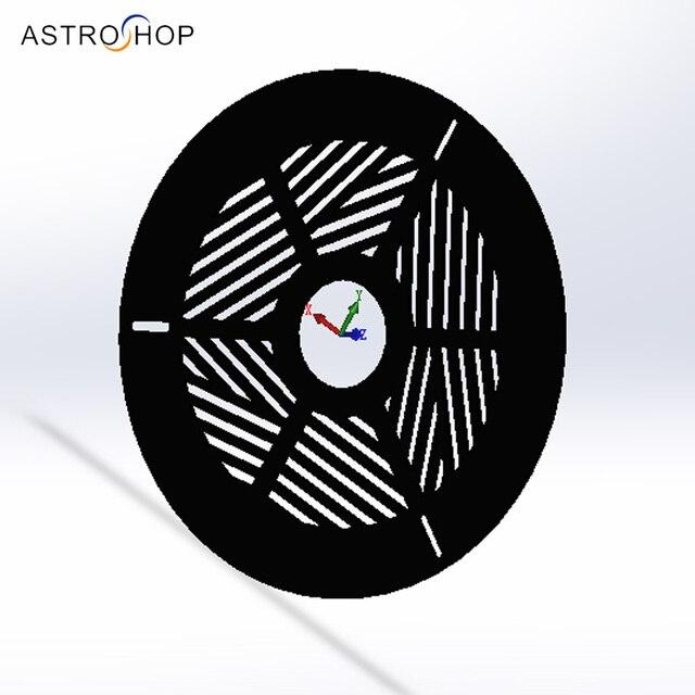Plastic New Bahtinov Focusing Mask   For Telescope Diameter from 60 200mm