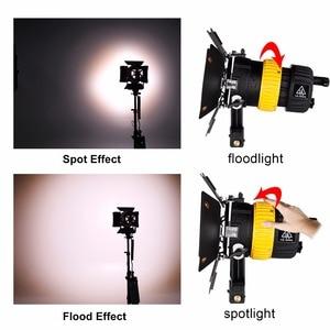 Image 3 - 80W LED wideo Spotlight dla fotografia studyjna kamera ciągłe oświetlenie Bi kolor 3200K/5600K ściemniacz V do montażu na MINI miękkie światło