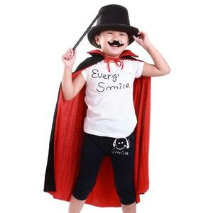 Image 4 - Halloween Cloak Cape Death Cloak Wizard Robe Magician Witch Fantasia Costume for Children