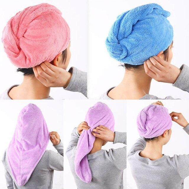 Signora Girl Quick Dry Bath Testa Wrap Cappello Delle Donne Capelli di Secchezza