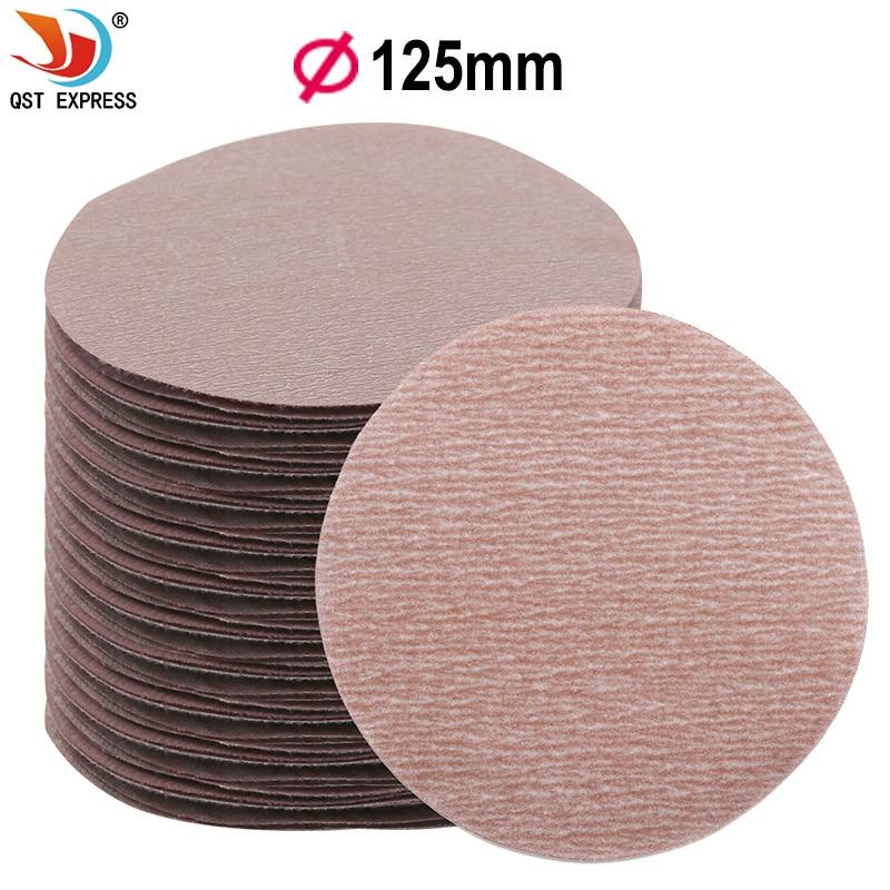 7pcs 5 Inch 125mm Round Sandpaper Discs Sand Sheets Grit 80-1500 # Hook And Loop Sanding Disc For Sander Grits