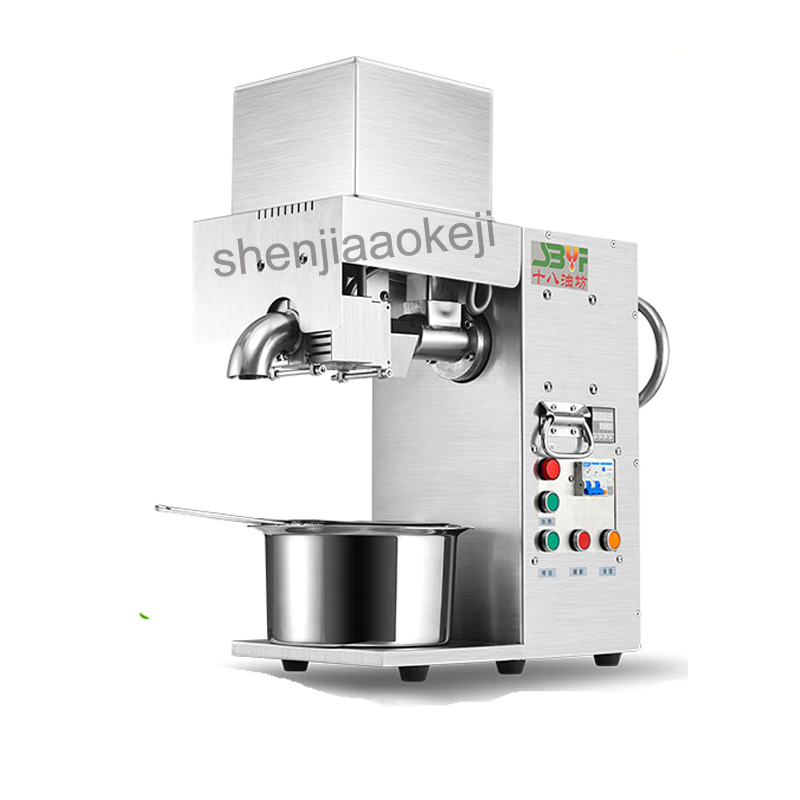Stainless steel Oil press machine Oil presser for sesame/Melon seeds/Rapeseed/flax/walnut Peanut oil pressing machine automatic mini oil press machine squeeze peanut oil pressing machine peanut sesame nuts corn oil machine hf 04 200w 220v 1pc