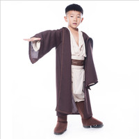 Hot Sale Boys Star Wars Deluxe Jedi Warrior Movie Character Cosplay Party Clothing Kids Fancy Halloween
