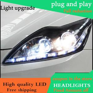 43f62c8c2bd8 Car Styling Head Lamp For Ford Focus MK2 Headlights 2009-2013 LED Headlight