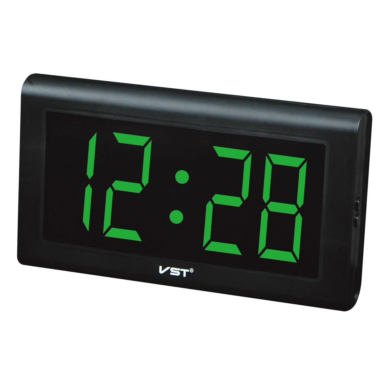 Horloges numériques avec prise horloge lumineuse horloge de Table en plastique moderne horloge mur LED numérique chiffres lumineux grand affichage