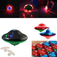 2017 New Laser Color Flash LED Light Music Gyro Peg-Top Spinner Spinning Kids Toy Spinning Top -17 M09