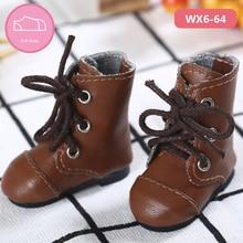 Chaussures en cuir PU BJD 1/6, bottes décontractées pour Linachouchou, pour poupée, accessoires, luodoll, livraison gratuite