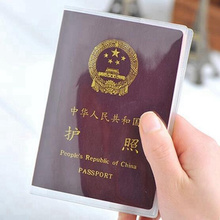 Travel Accessories Classic PVC Transparent Passport Holder Women Card ID Case Business Pass Port Holder Wallet Credit Card Bag waterproof pvc transparent passport cover case women travel id card holders business credit card holder