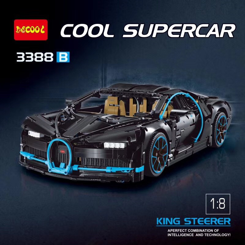 IN STOCK DHL Chiron Car bugattied 3625Pcs Racing DECOOL 3388 Model Building Blocks Bricks Toy Technic Compatible legoings 42083 in stock dhl decool 3333 building blocks toy 1 10 car model supercar red assemblage racing brain game gift clone 8145