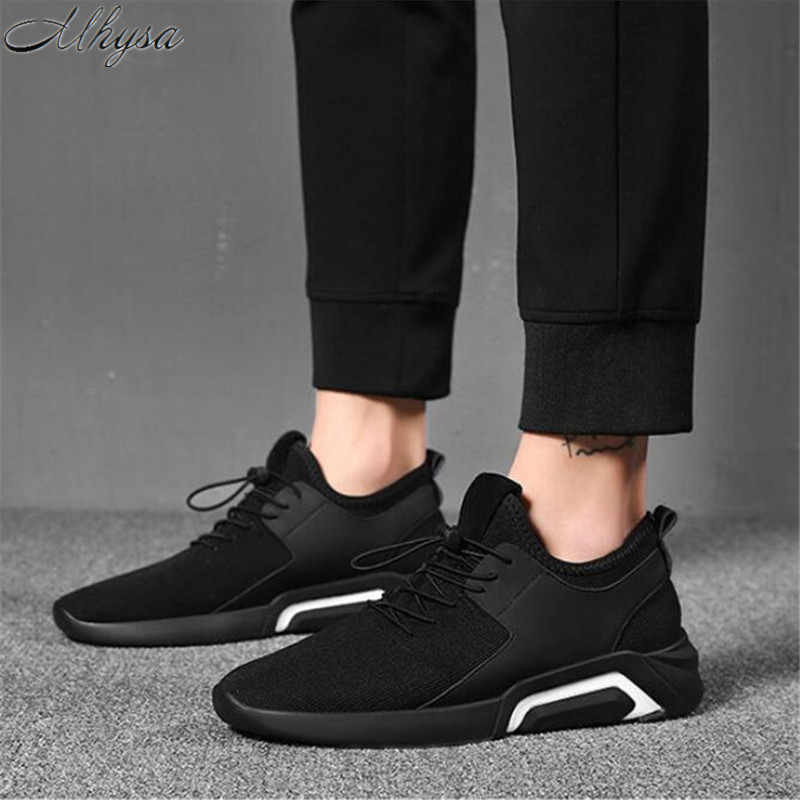 6a9f76e1d9f35 Detail Feedback Questions about Mhysa 2019 New Spring And Autumn Men s  Fashion Wild Breathable Mesh Casual Shoes Sneakers Low toe Lace up Solid  Men s Slip ...