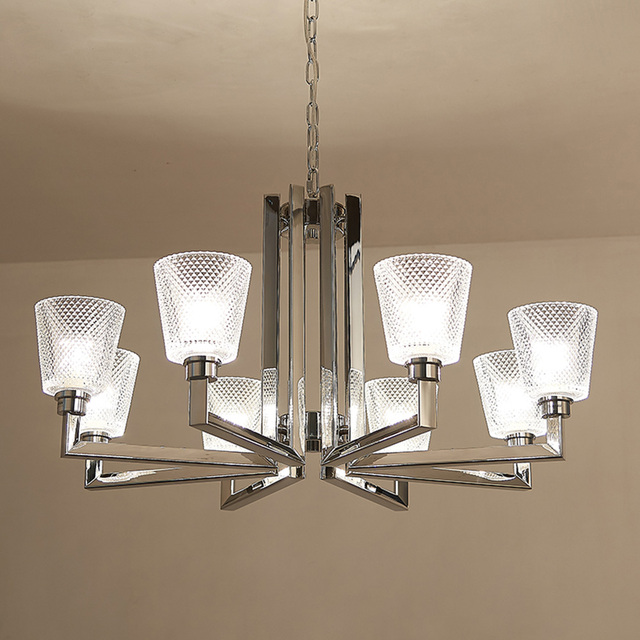 Led Glass Crystal Chandeliers 110 220v Modern Chandelier With Shade E27 Home Lighting Living