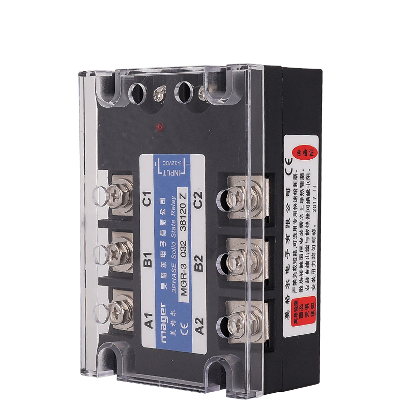 120A Three Phase Solid State Relay SSR DC control AC (MGR-3 032 <font><b>38120</b></font> Z)380VAC voltage Free shipping With protective covers image