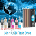 Micro Dirve De Metal memory stick USB Otg móvel 2.0 para iphone 6/6 plus 5S ipad flash drive 16g 32 gb 64 gb pendrive