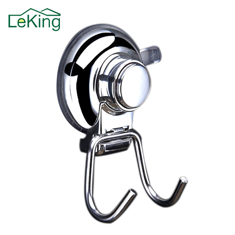 304 Stainless Steel Removable Plastic Sucker Bathroom Kitchen Wall Strong Suction Cup Hook Hangers Home Decor Accessories