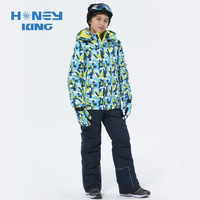 Boys Ski Sets Winter Waterproof Windproof Kids Ski Jacket Children Outdoor Camping Hiking Warm Hooded Snowboard Sports Suits
