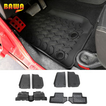 Carpet Interior-Accessories Jeep Wrangler Floor-Mat Waterproof Anti-Slip BAWA Black Rubber