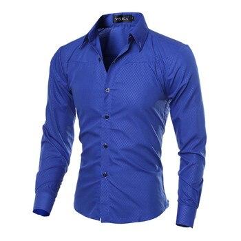 5XL زائد حجم العلامة التجارية ملابس القطن ملابس رجالي الصلبة لينة الرجال قميص ملابس رجالية بكم طويل قمصان عارضة سليم احتواء حار بيع