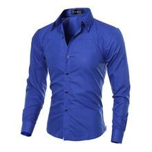 5XL Plus Size Brand-clothing Cotton Mens Clothing Solid Soft Men Shirt Long Slee