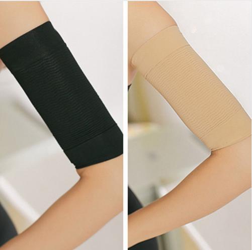 2pcs Women Massage Upper Arm Shaper Arm Slimming Belt Elastic Arm Sleeves elbow slimming shaper person care 2