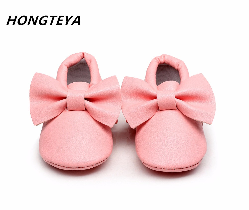 2016 New 20 colors fringe Bow PU leather Baby Moccasins shoes Boys Girls Toddler Soft Sole Infant Kids Shoes 0-2years