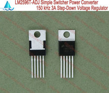 10pcs/lot LM2596T-ADJ LM2596 SIMPLE SWITCHER Power Converter 150 kHz 3A Step-Down Voltage Regulator 10pcs lot l7812cv l7812 l7812v tube regulator 7812 transistor new