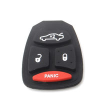 2PCS Remote Key Replacement Button Rubber Pad 3+ Panic for Dodge Chrysler Jeep