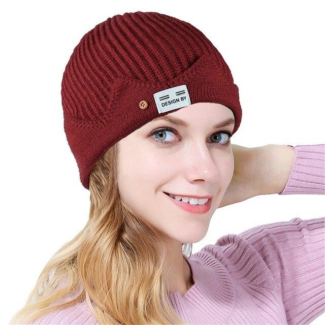 Soild inde Turban chapeau pour femmes | Extensible, bouton laine, perte de cheveux, écharpe pour tête, foulard enveloppe dame chaud hiver chapeau Ski Chic casquette gorros mujer