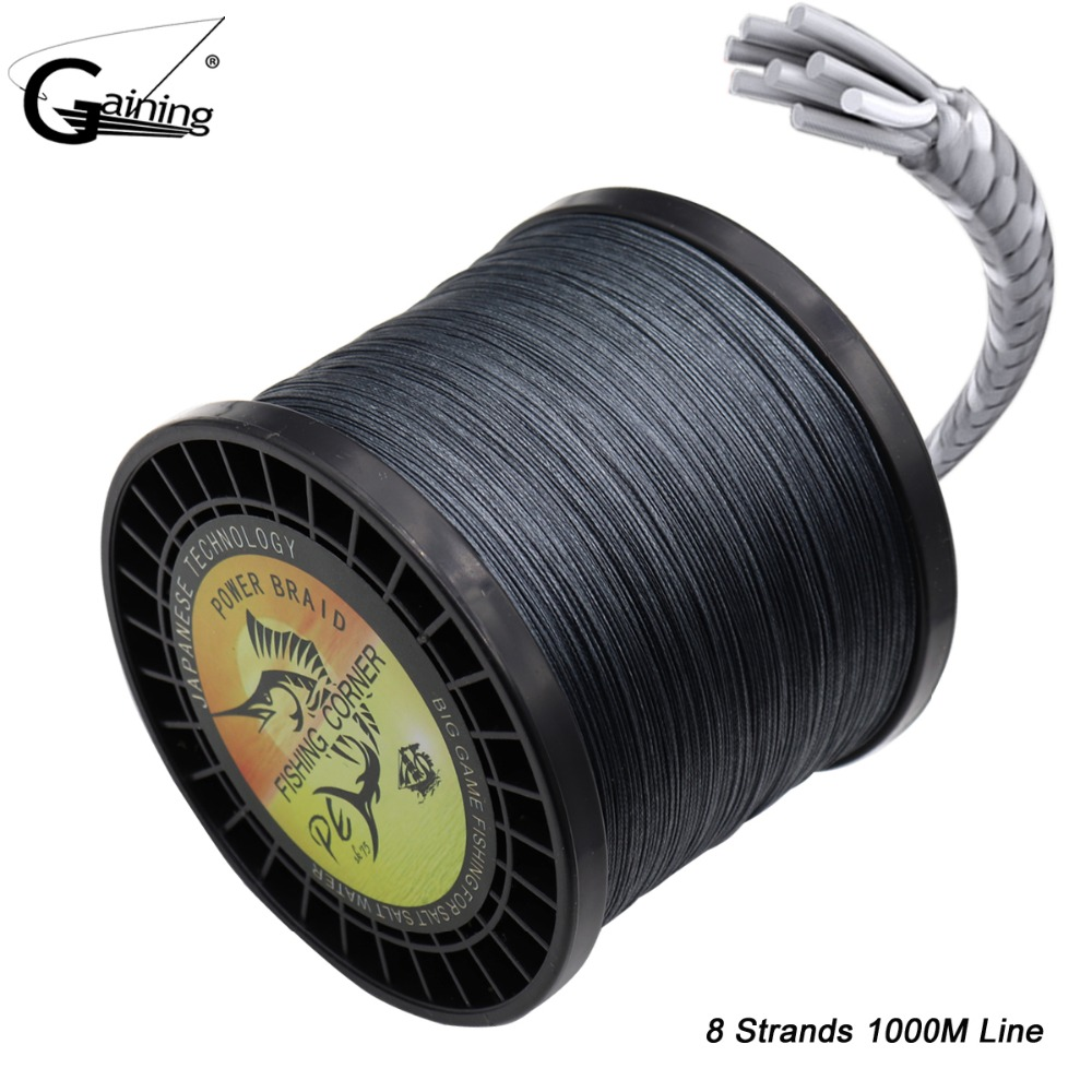 Braided Fishing Line 8 Strands 1000m Abrasion Resistant Braided Lines 6LB 8LB 9LB 220LB PE Extreme Braided Line Fishing Cord new gevlochten draad braided fishing line wire 8 strands 1000m pe 100