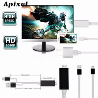PLUG ET JOUER Foudre à HDMI HDTV AV TV Câble Adaptateur Pour iPad Mini Air iPod Tactile iPhone8/7/7 Plus/6/6 S/6 Plus/5/5S/5C