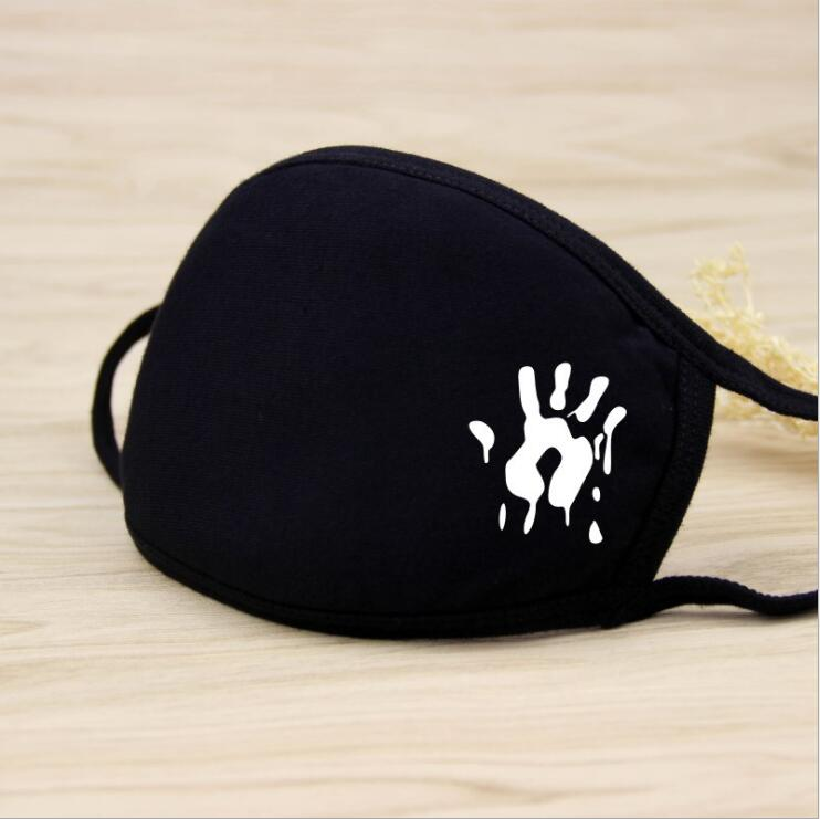 1PC Palm Dustproof Mouth Face Mask Unisex Korean Style Kpop Black Bear Cycling Anti-Dust Cotton Facial Protective Cover Masks