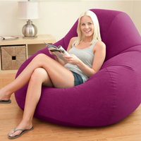 High Grade Flocking Single Plus Back Lazy Bones Inflatable Sofa Lazy Leisure Lounge Chair