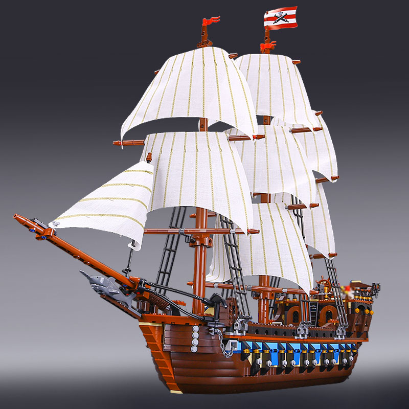 New LEPIN 22001 Pirate Ship Imperial warships Model Building Kits Block Briks Toys Children Gift Compatible 10210 Educational lepin 22001 pirate ship imperial warships model building block briks toys gift 1717pcs compatible legoed 10210