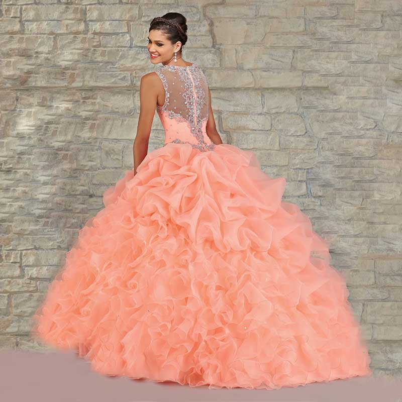 a410b672df8 Berydress Ultimatedly Orange Sweetheart Luxury Crystals Beaded Ruched  Organza Quinceanera Dress Online 2015-in Quinceanera Dresses from Weddings    Events on ...