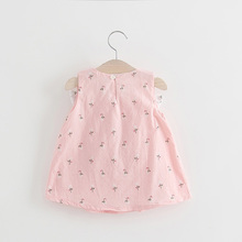 Summer children clothing print girl dress child clothes wedding birthday dress elegant party baby girl dresses