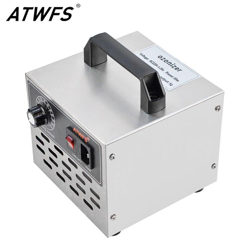 Ozone Generator 220v/110v 5g Ozonizador Ozonizer Air Cleaner Odor Eliminator Sterilizer Timing Switch EU Plug Air Purifier