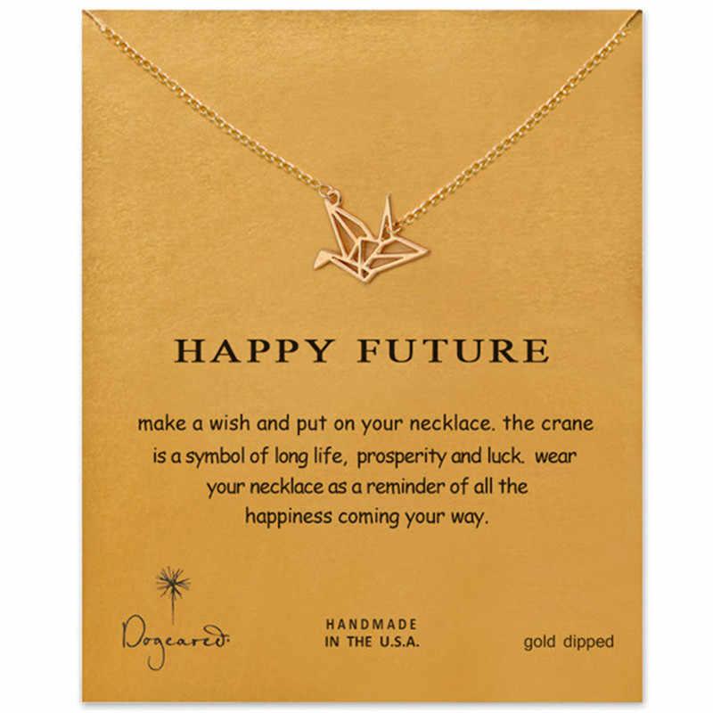 13 стиль доверие ключ ожерелье Золото окунутый кулон ожерелье цепочка до ключицы заявление ожерелье женский подарок ювелирные изделия