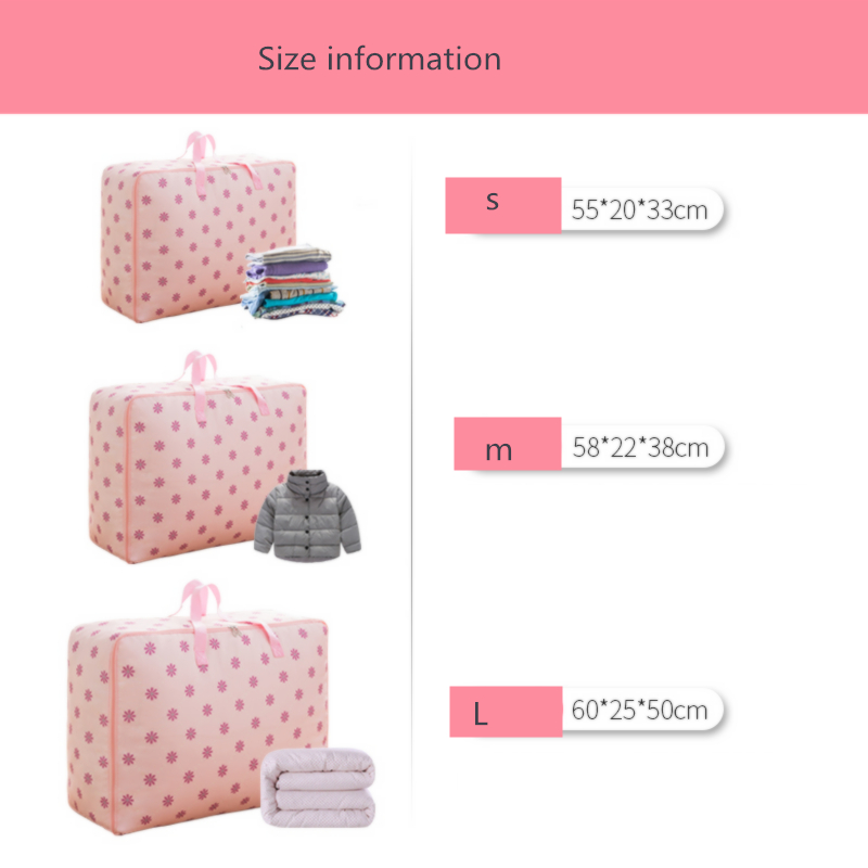 3Pcs set Clothes Quilt Storage Bag Oxford Cloth Closet Organizer For Bedding Blanket Pillow Container Tidy Luggage Packing Bag in Storage Bags from Home Garden