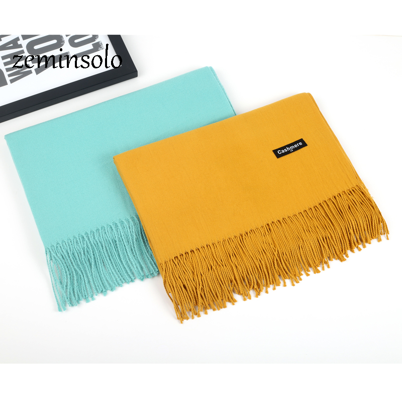 Luxury Brand   Scarf   Pashmina Cashmere   Scarves     Wraps   Shawls Winter   Scarf   Women   Scarves   Tassel Long Blanket Cachecol High Quality