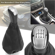 Black Shift Gear Knob 6 Speed For Mercedes For C-Class W203 S203 Accessories Fashion