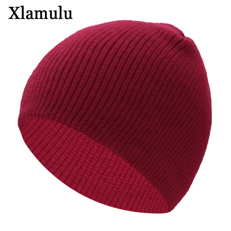 Xlamulu New Fashion Women   Skullies     Beanies   Men Knitted Hat Winter Hats For Women Bonnet   Beanie   Female Gorros Knitting Hat Caps