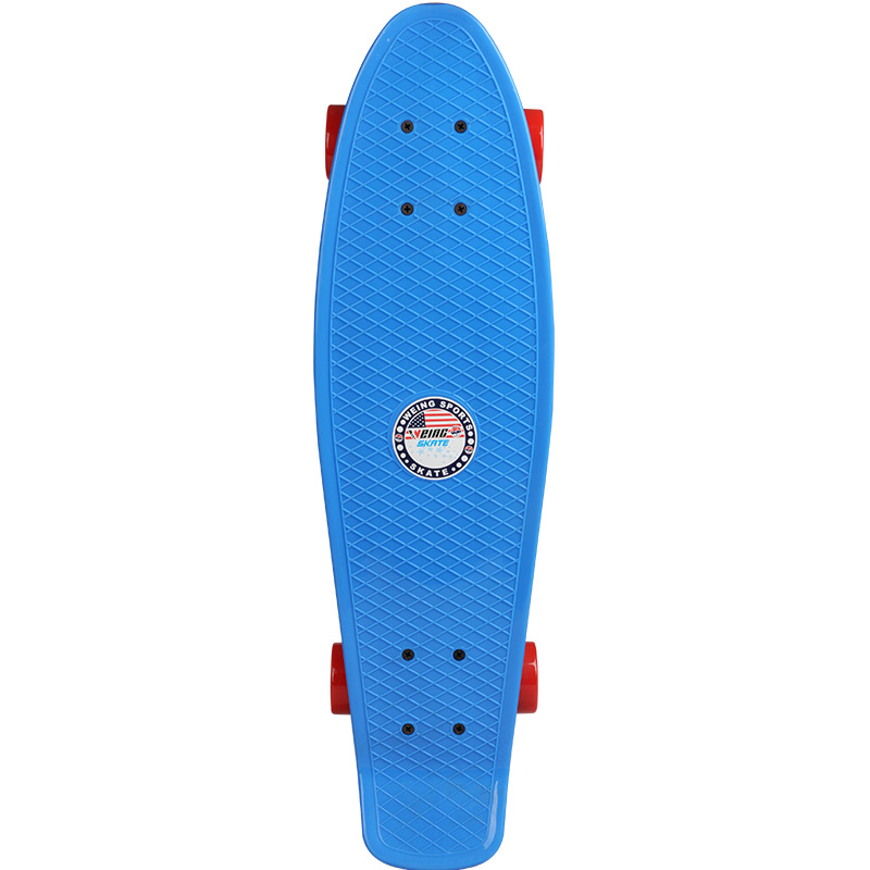 WH-538 & 27 Inch Four wheels Skateboard Street Long Skate Board Cruiser Skateboard Deck Longboard Wheels Waveboard 4 wheel electric skateboard single driver motor small fish plate wireless remote control longboard waveboard 15km h 120kg