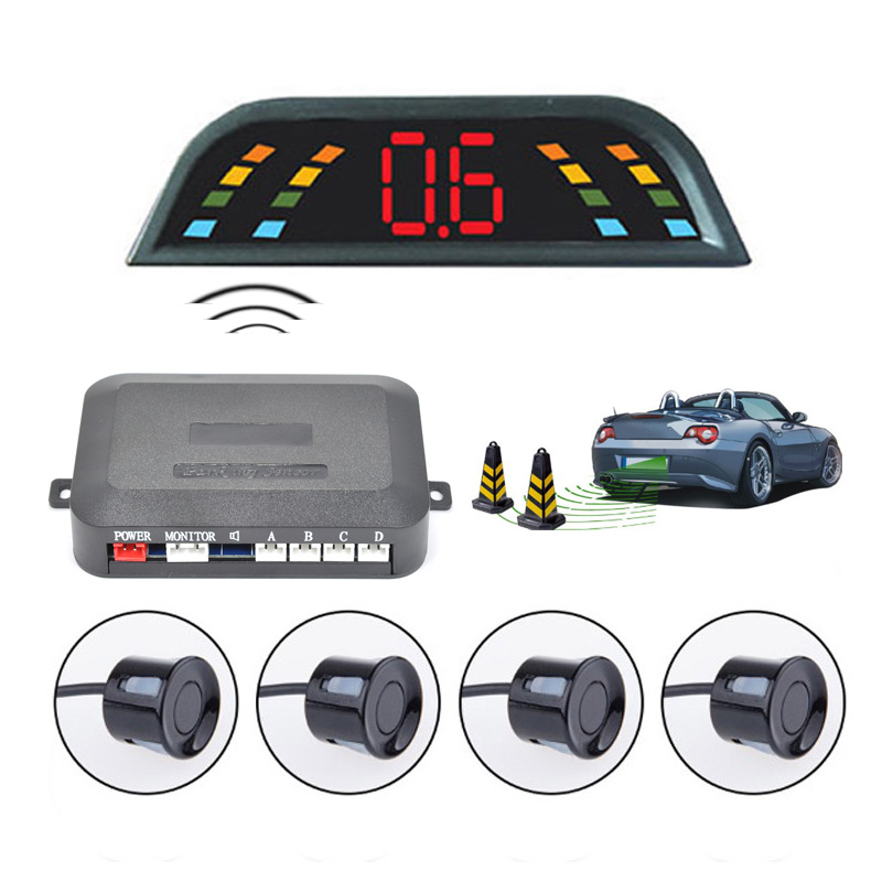 Wireless  Digital LED Car Parking Assistance System with 4 SensorsWireless  Digital LED Car Parking Assistance System with 4 Sensors