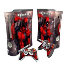 New Design Deadpool Vinyl Decal Skin Sticker cover for Xbox 360 Fat Console Controller(China)