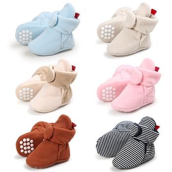 Unisex Baby Newborn Cozie Faux Fleece Bootie Winter Warm Infant Toddler Crib Shoes Classic Floor Boys 1
