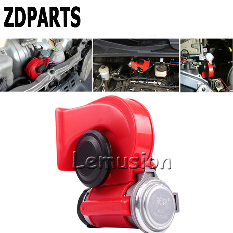 ZDPARTS For Honda Civic Accord Fit CRV HRV Toyota Corolla Avensis Rav4 Fiat Car Automobiles 12V 130db Two Tone Snail Air Horn